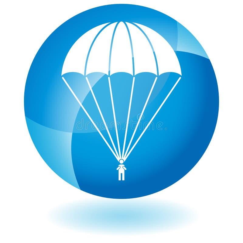 Botão do paramilitar do paraquedas ilustração do vetor