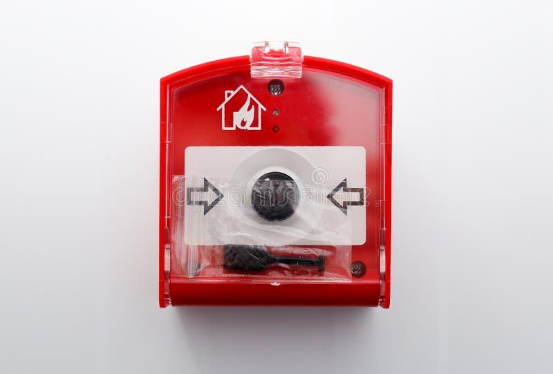 Botão do perigo de fogo foto de stock