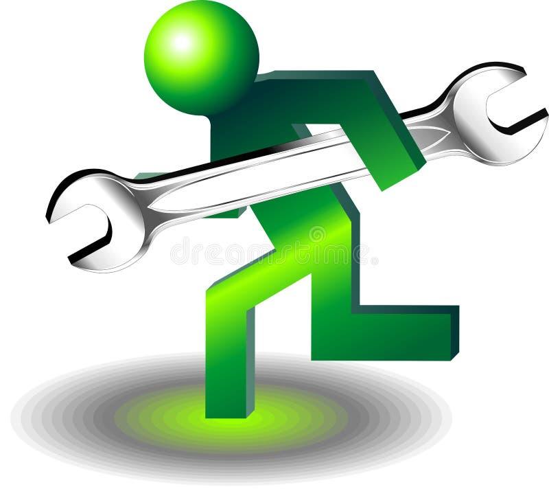 Botão do suporte laboral ilustração stock