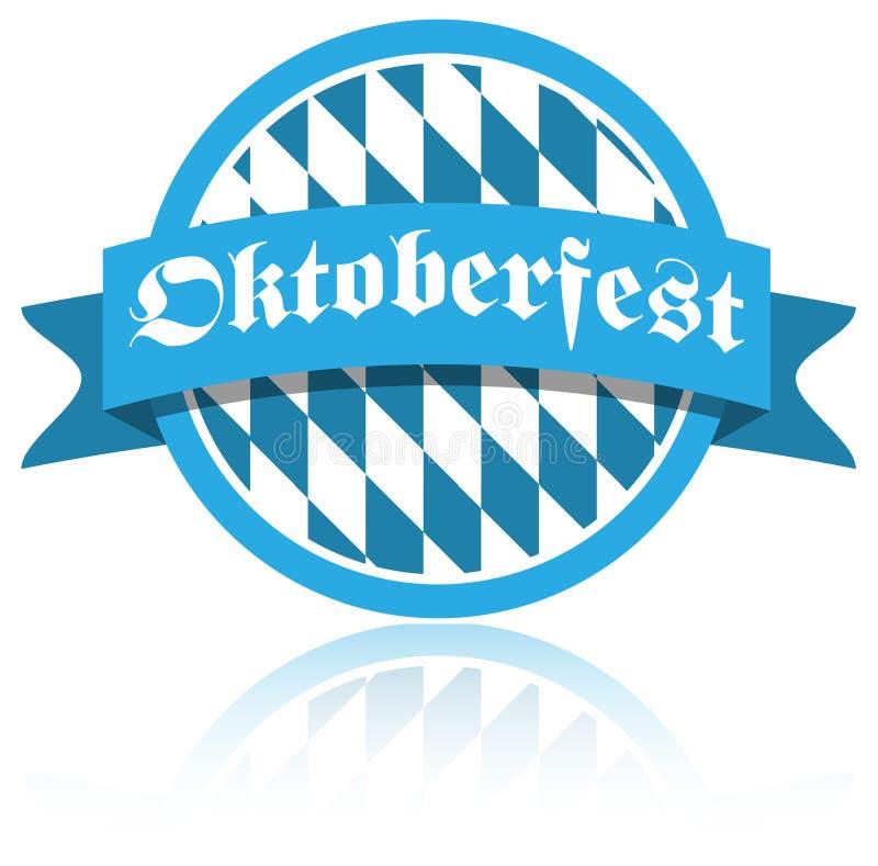 Botão do vetor do bavaria de Oktoberfest no fundo branco ilustração royalty free