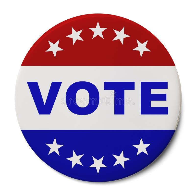 Botão do voto foto de stock