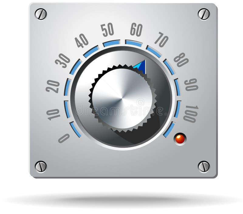 Botão eletrônico do regulador do controle análogo ilustração stock