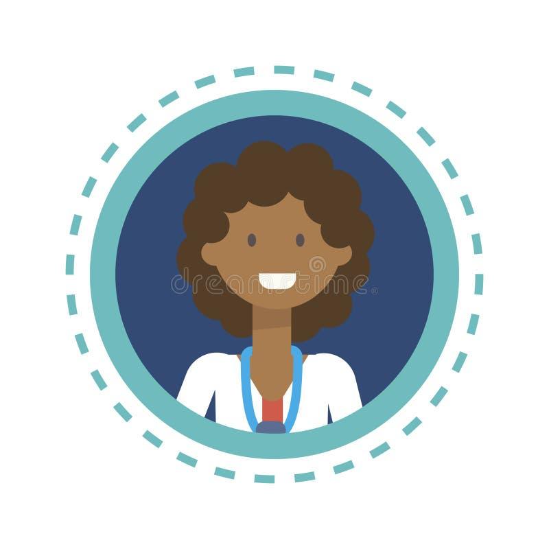 Botão em linha da consulta do trabalhador da medicina do médico Icon Clinics Hospital ilustração stock