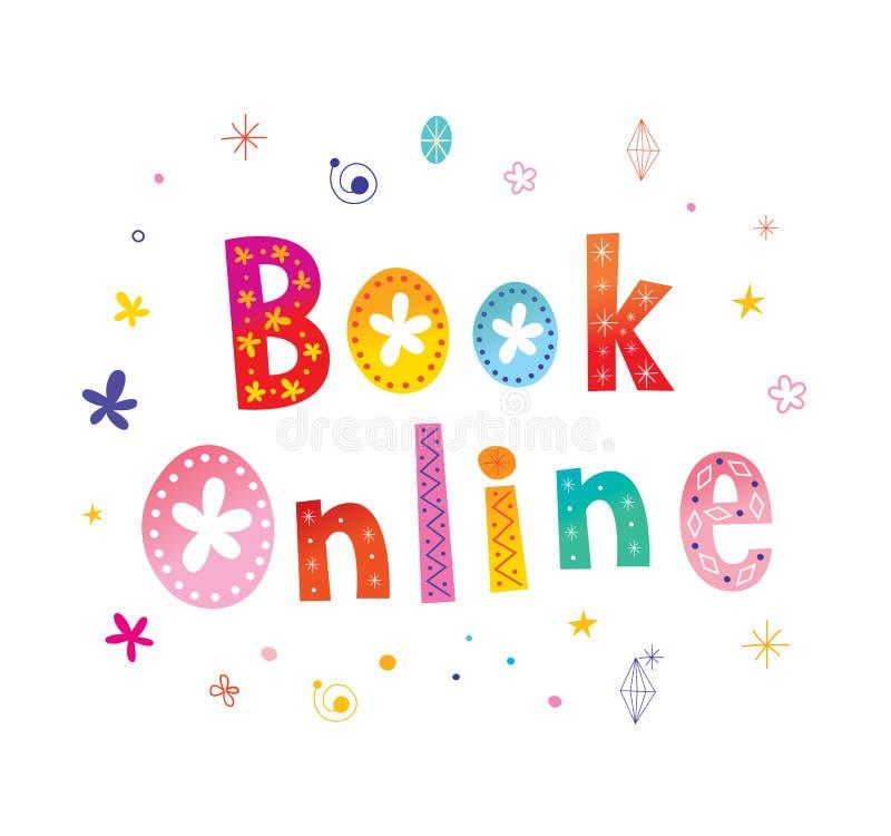 Botão em linha da Web do livro ilustração royalty free