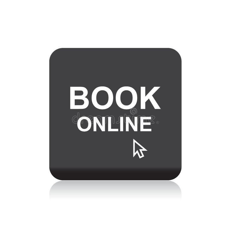 Botão em linha da Web do livro ilustração do vetor