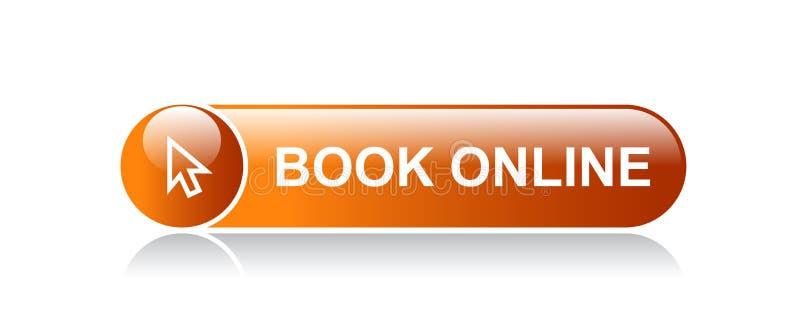 Botão em linha da Web do livro ilustração stock