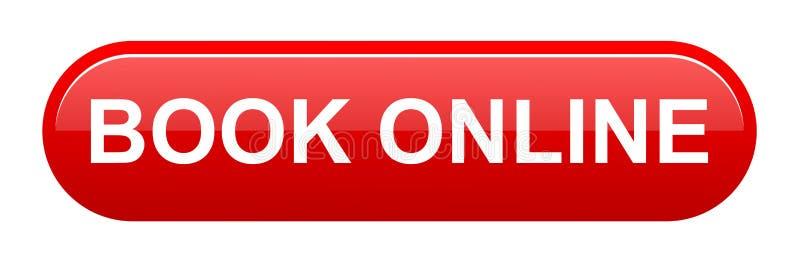 botão em linha do livro ilustração stock