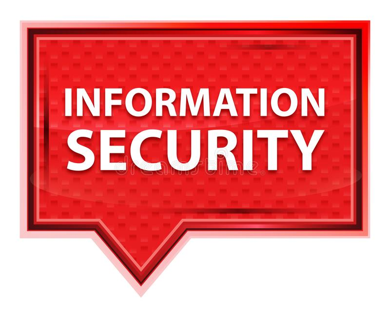 Botão enevoado da bandeira do rosa de rosa da segurança da informação ilustração do vetor