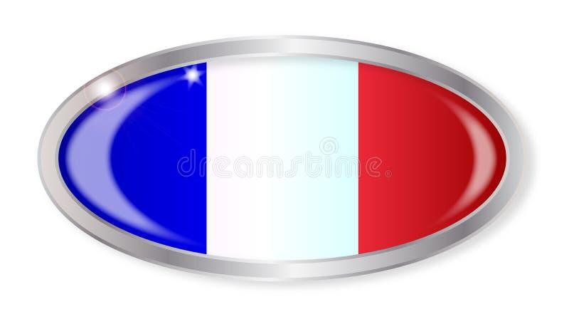 Botão francês do Oval da bandeira ilustração royalty free