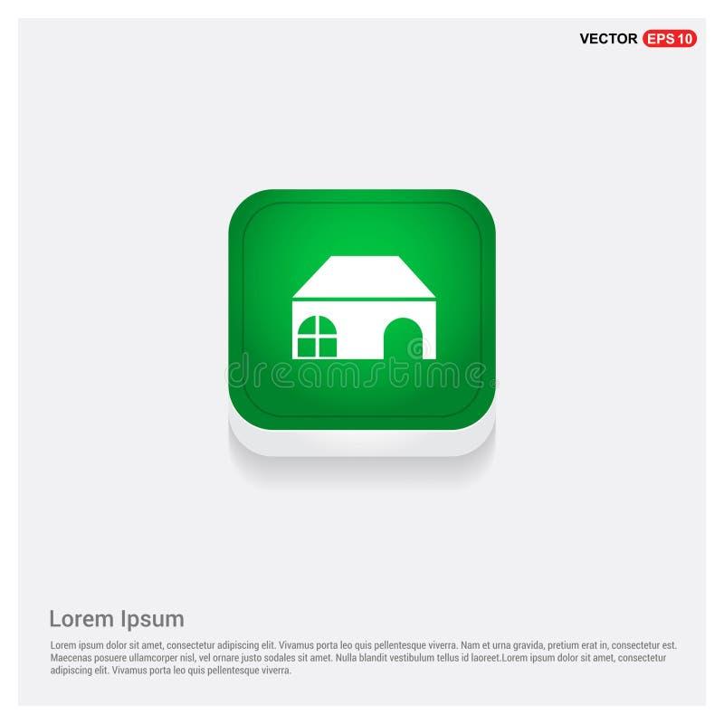 Botão home da Web do verde do ícone ilustração royalty free