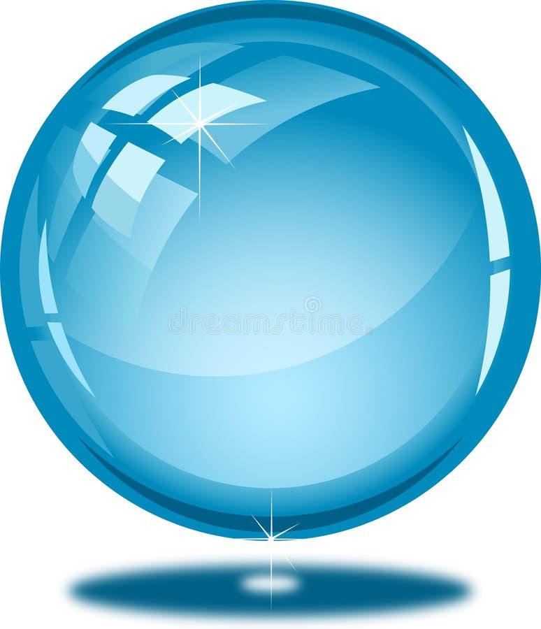 Botão lustroso azul ilustração do vetor