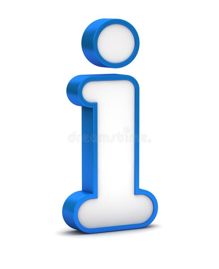 Botão lustroso azul do ícone da informação ilustração do vetor