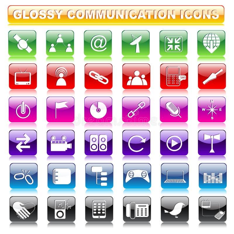 Botão lustroso de uma comunicação ilustração royalty free