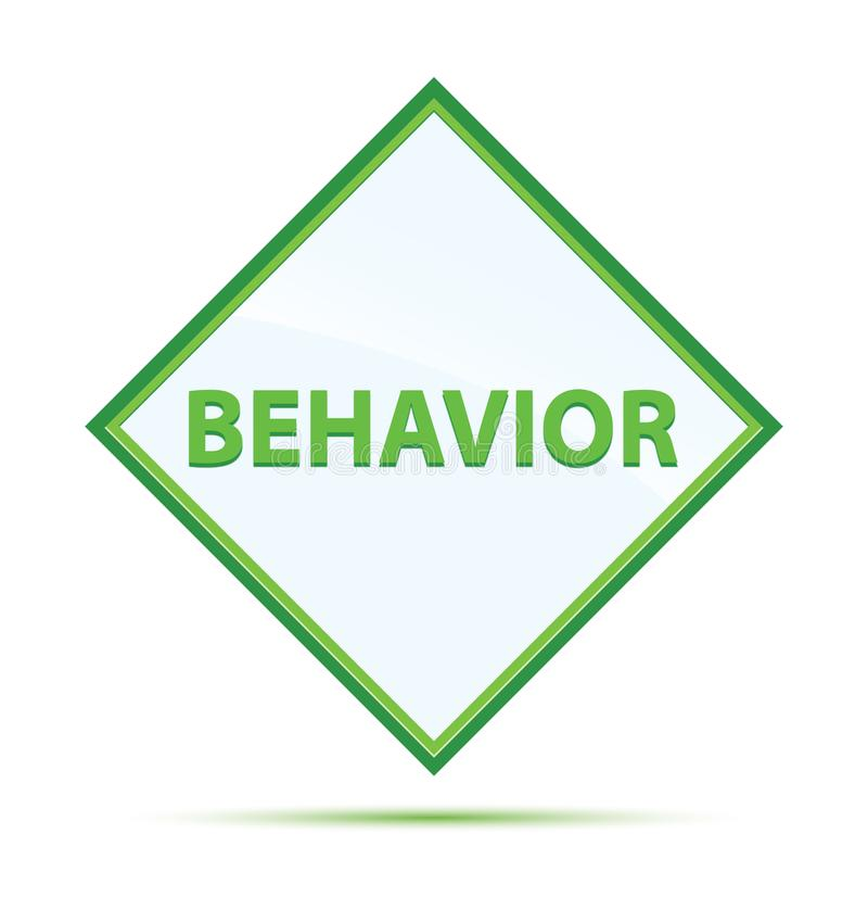 Botão moderno do diamante do verde do sumário do comportamento ilustração do vetor