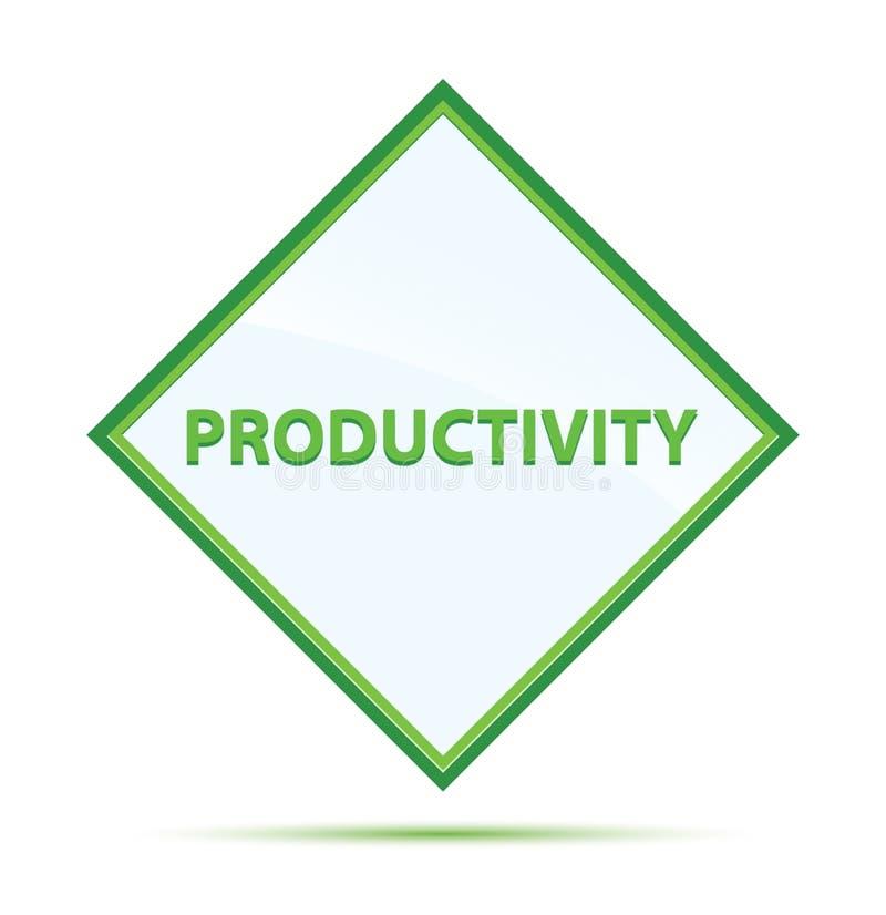Botão moderno do diamante do verde do sumário da produtividade ilustração do vetor