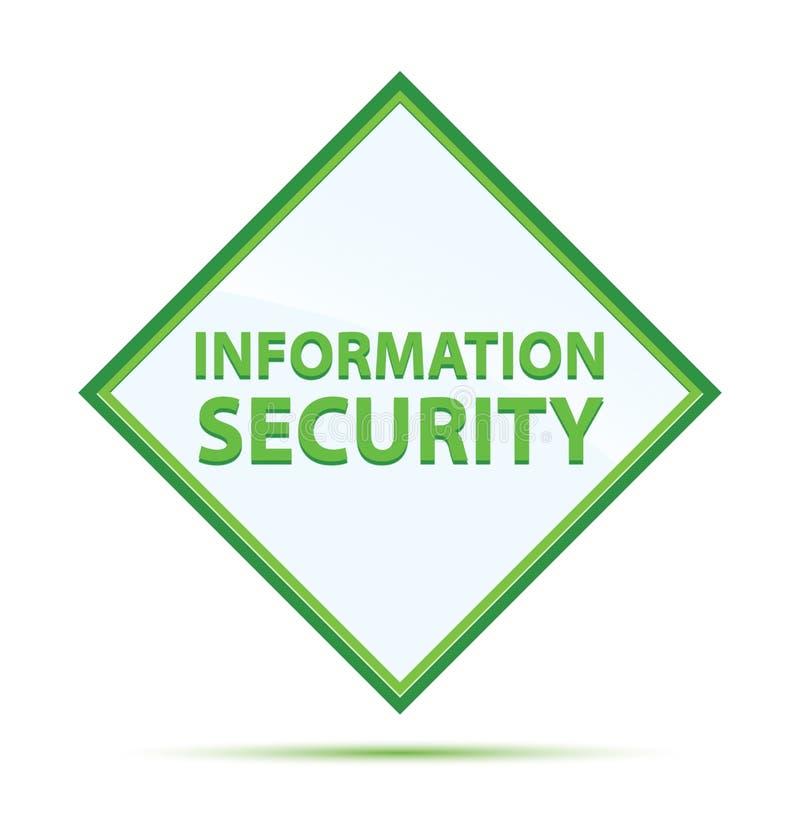 Botão moderno do diamante do verde do sumário da segurança da informação ilustração royalty free