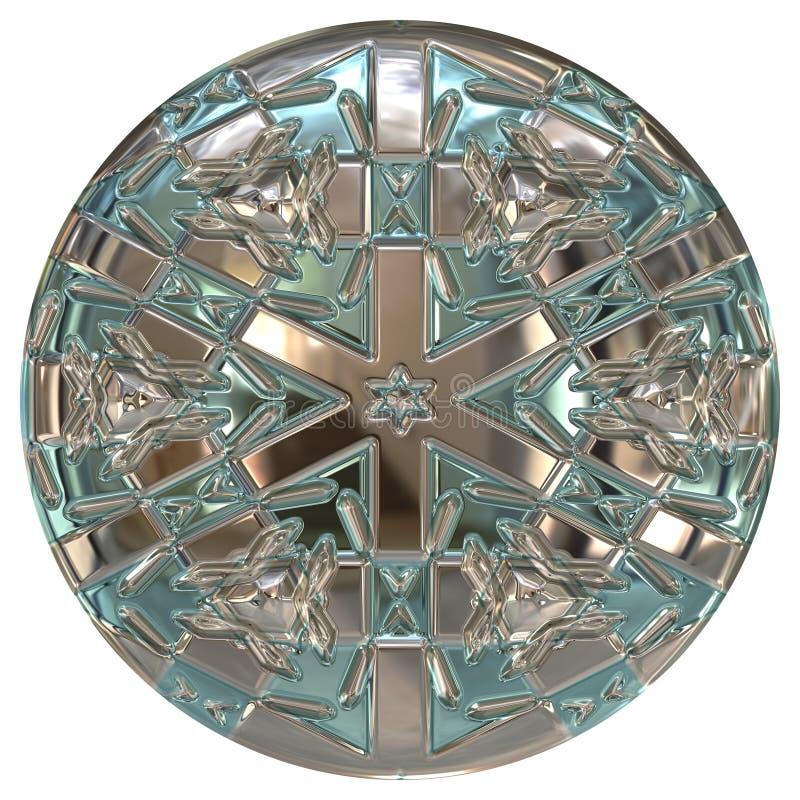 Botão ou esfera metálica ilustração do vetor