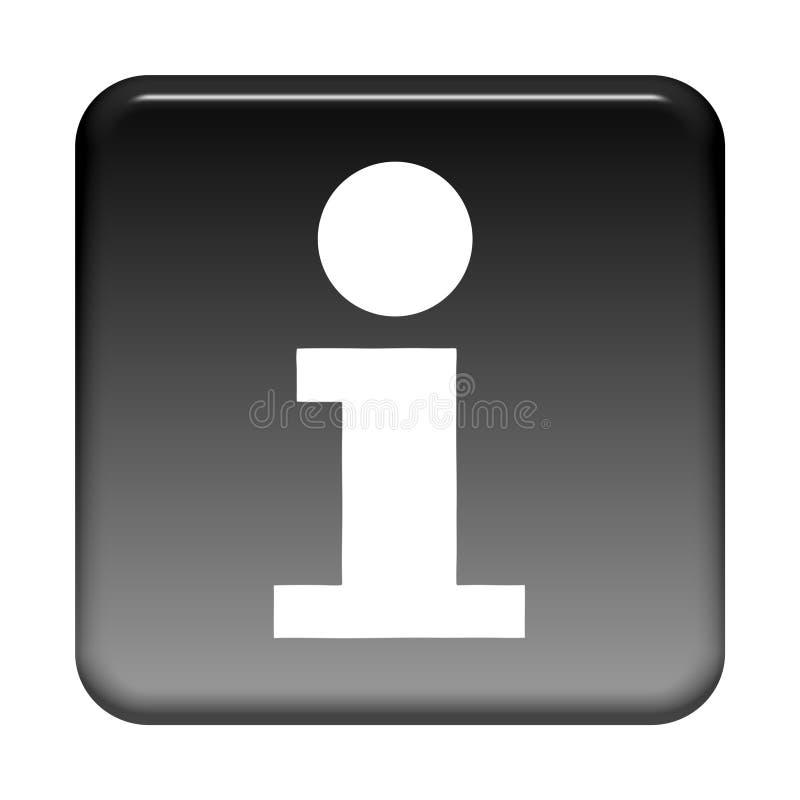 Botão preto: Informação ilustração stock