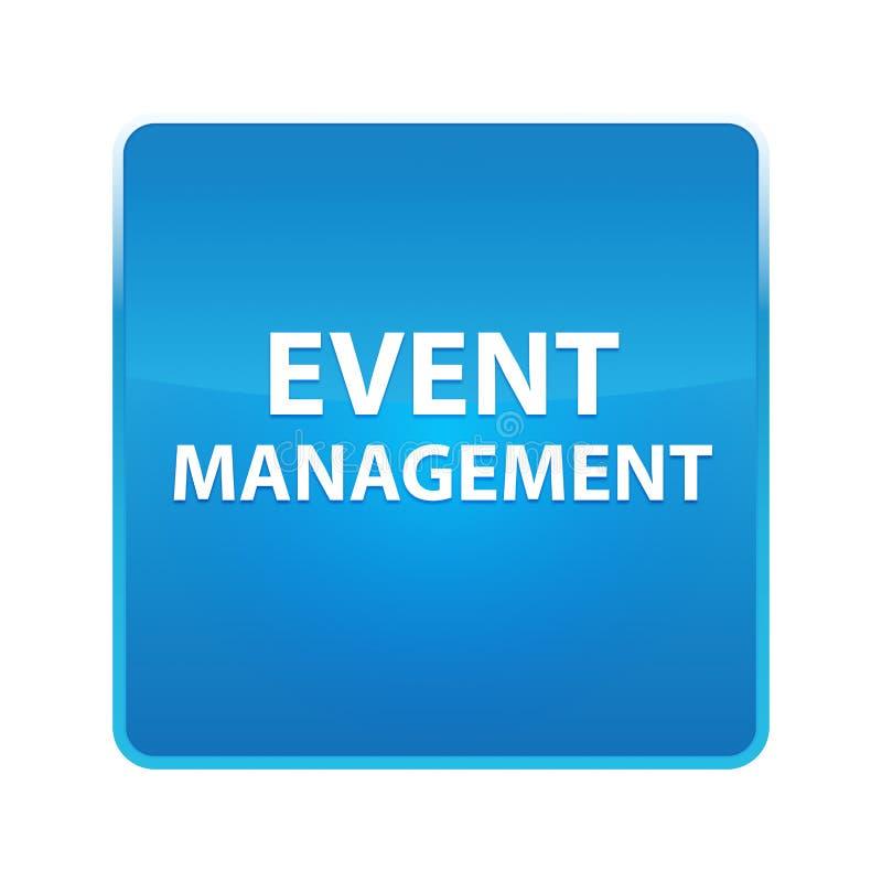 Botão quadrado azul brilhante da gestão do evento ilustração royalty free