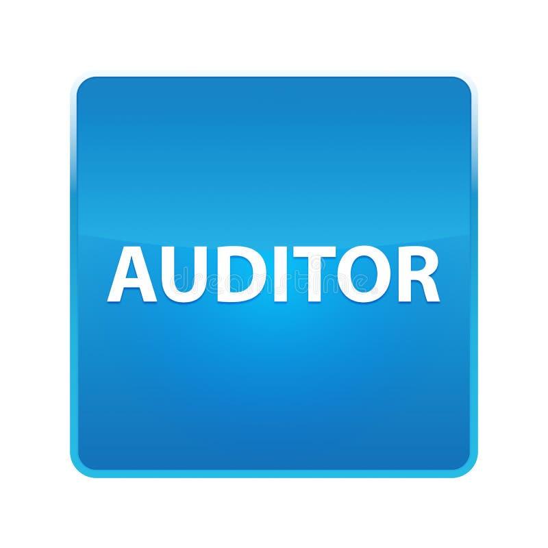Botão quadrado azul brilhante do auditor ilustração royalty free