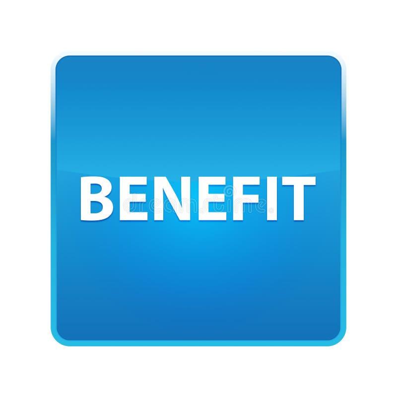 Botão quadrado azul brilhante do benefício ilustração royalty free