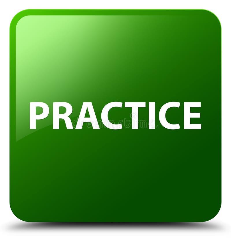 Botão quadrado verde da prática ilustração do vetor