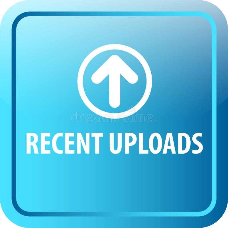 Botão recente da Web das transferências de arquivo pela rede ilustração stock