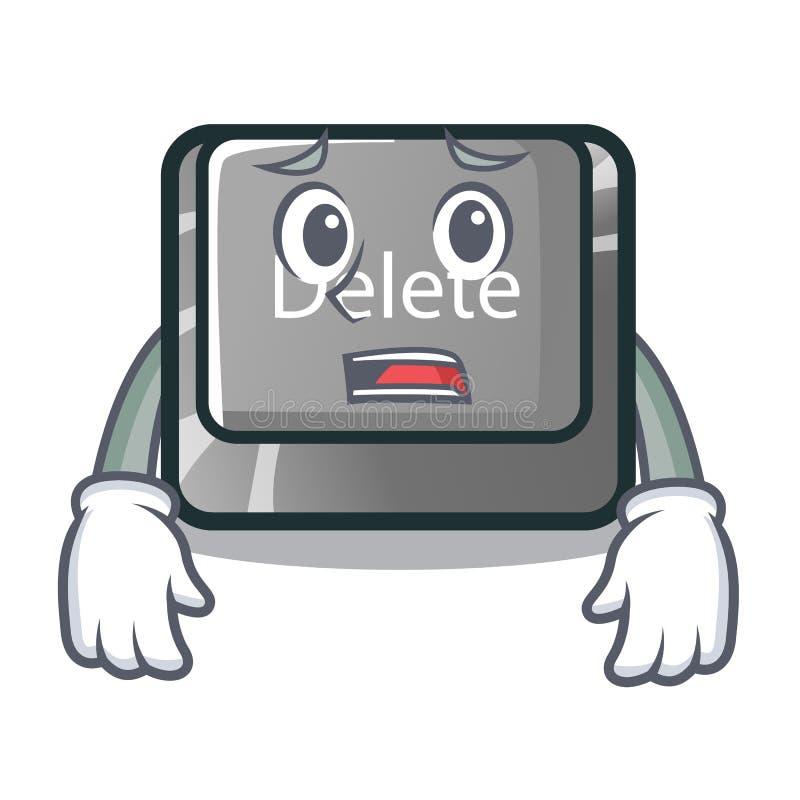 Botão receoso da supressão na mascote da forma ilustração royalty free