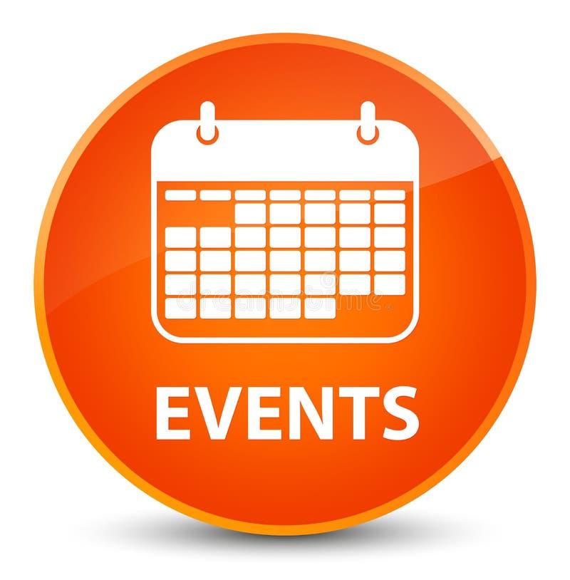 Botão redondo alaranjado elegante dos eventos (ícone do calendário) ilustração stock