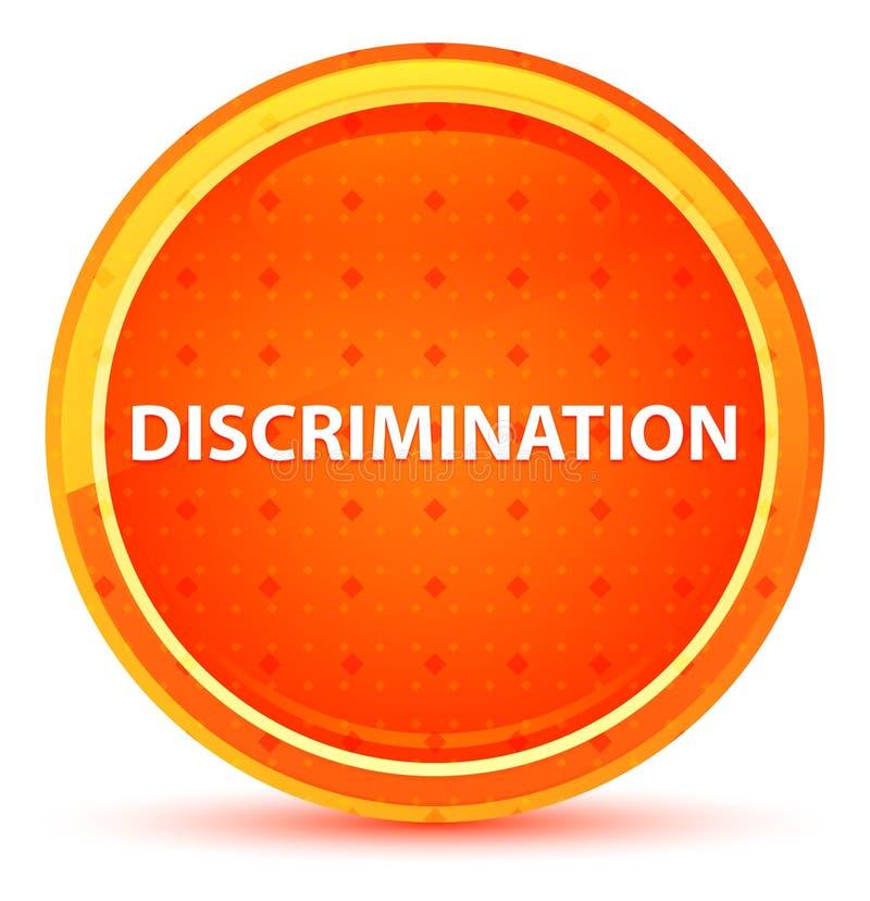 Botão redondo alaranjado natural da discriminação ilustração do vetor