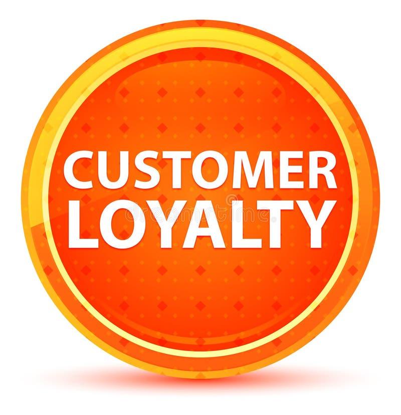 Botão redondo alaranjado natural da lealdade do cliente ilustração do vetor
