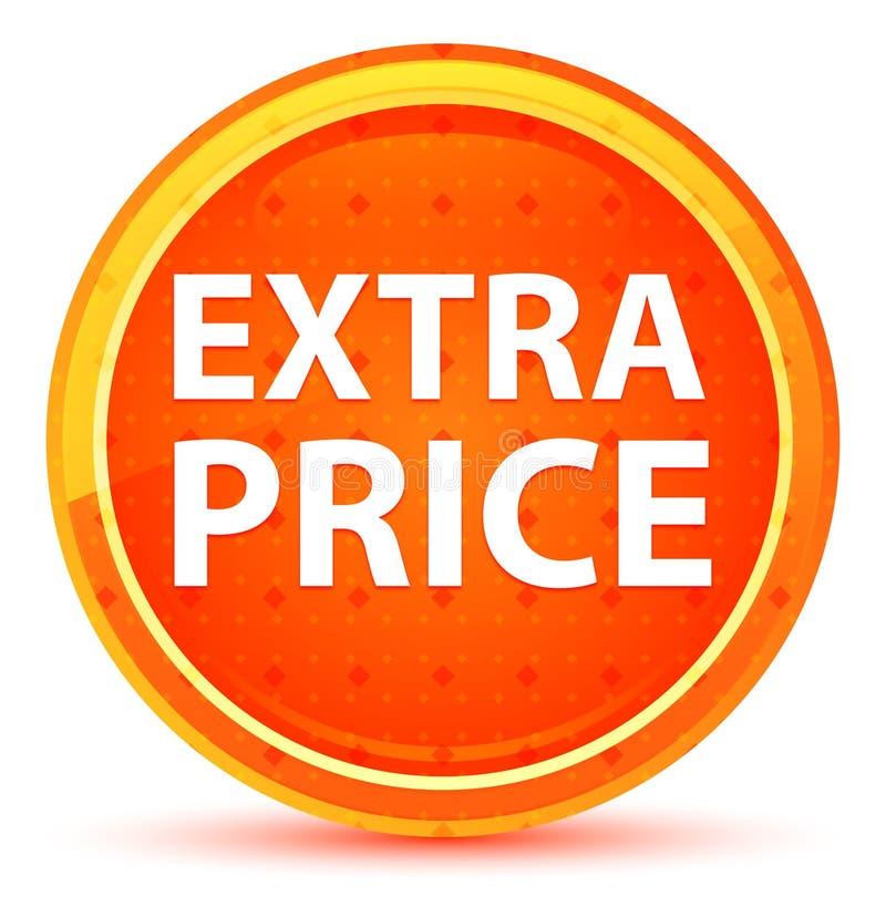 Botão redondo alaranjado natural do preço extra ilustração stock