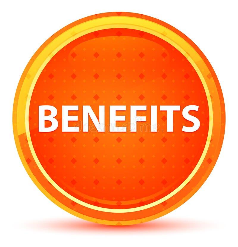 Botão redondo alaranjado natural dos benefícios ilustração royalty free