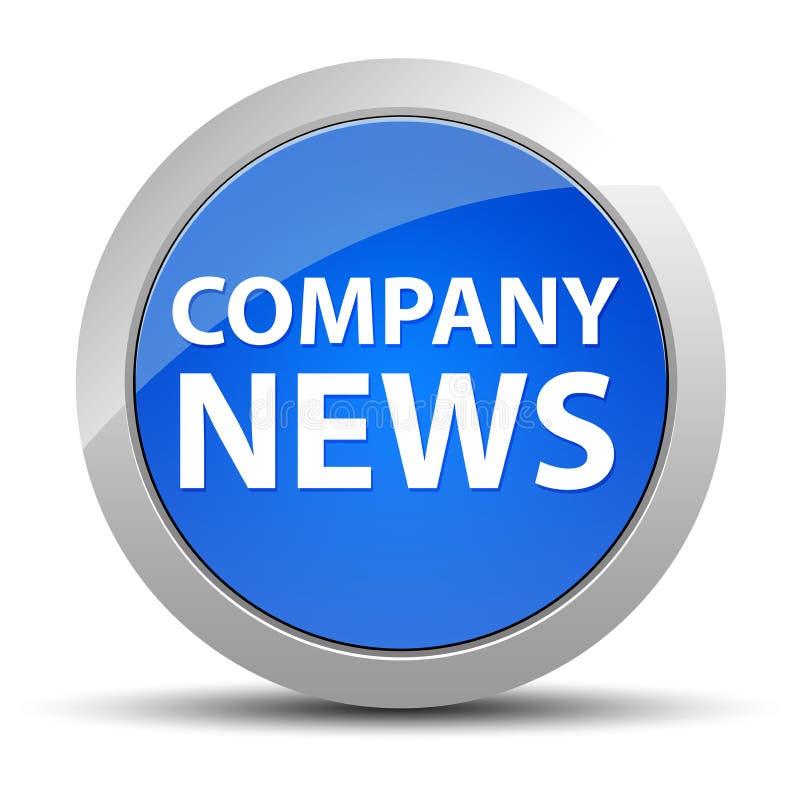 Botão redondo azul da notícia da empresa ilustração do vetor