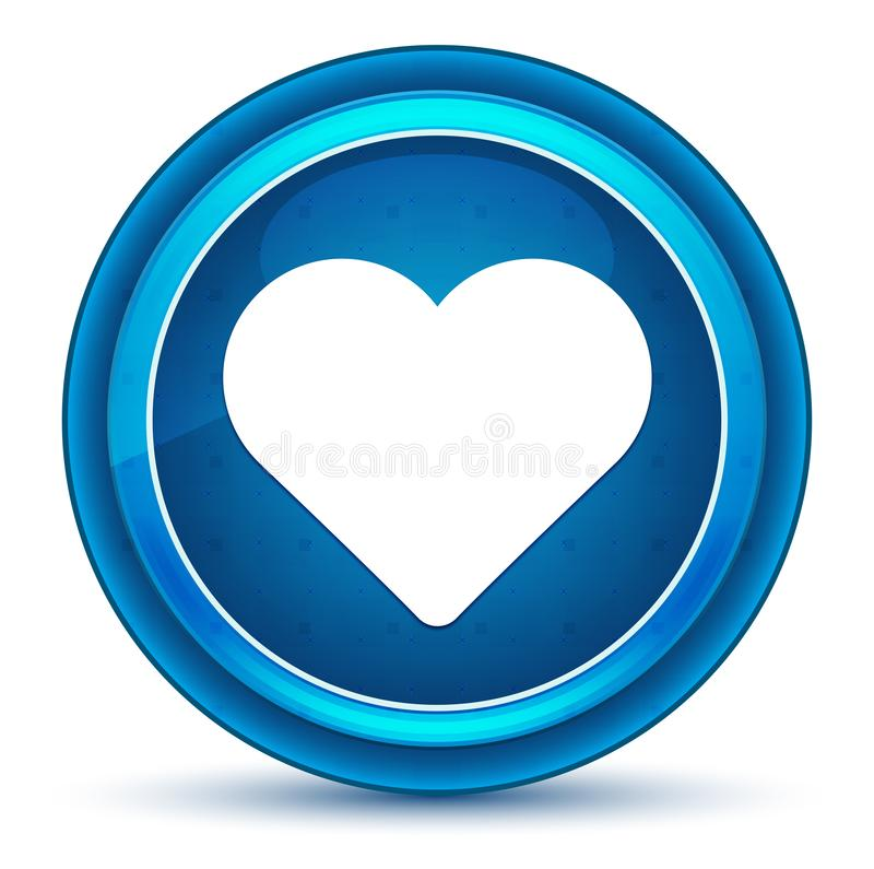 Botão redondo azul do globo ocular do ícone do coração ilustração royalty free