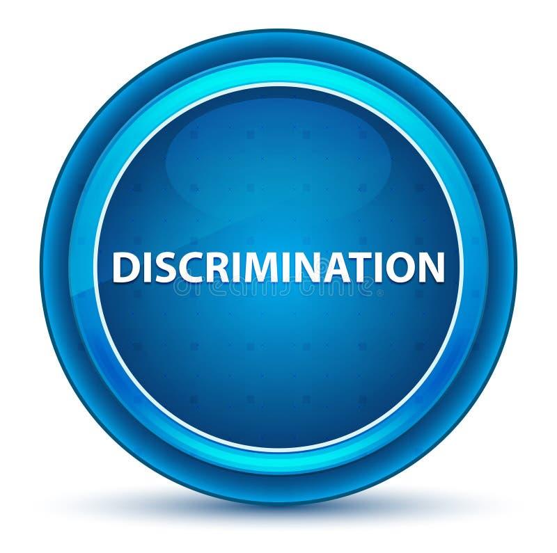 Botão redondo azul do globo ocular da discriminação ilustração do vetor
