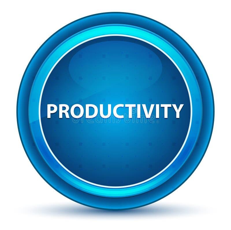 Botão redondo azul do globo ocular da produtividade ilustração stock
