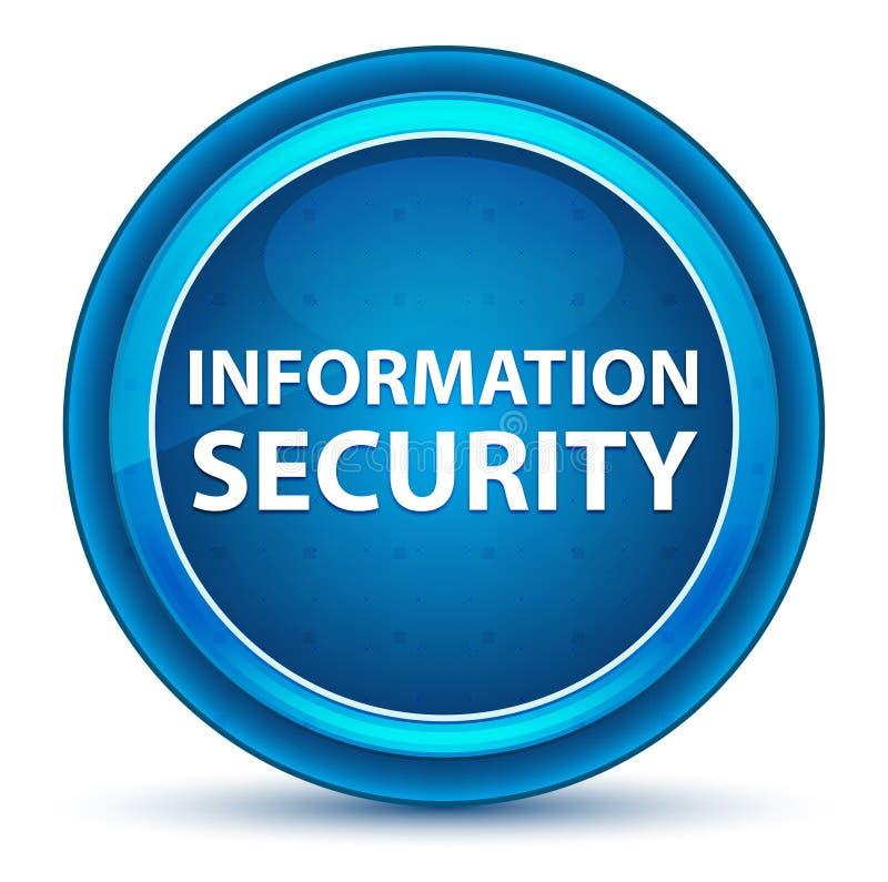 Botão redondo azul do globo ocular da segurança da informação ilustração do vetor