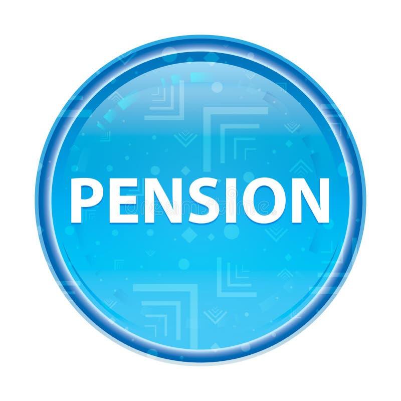 Botão redondo azul floral da pensão ilustração stock