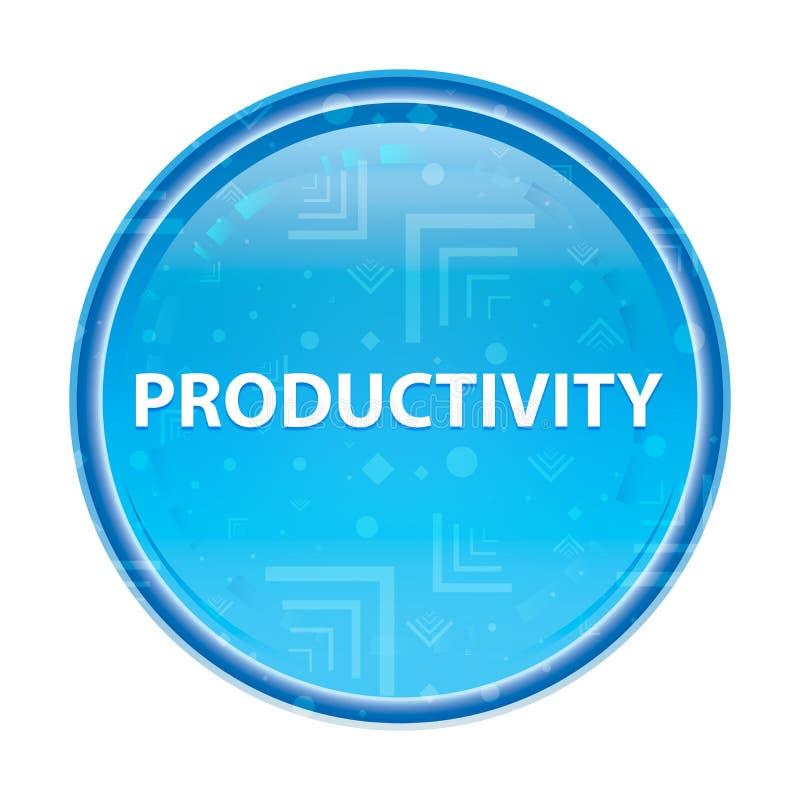Botão redondo azul floral da produtividade ilustração royalty free