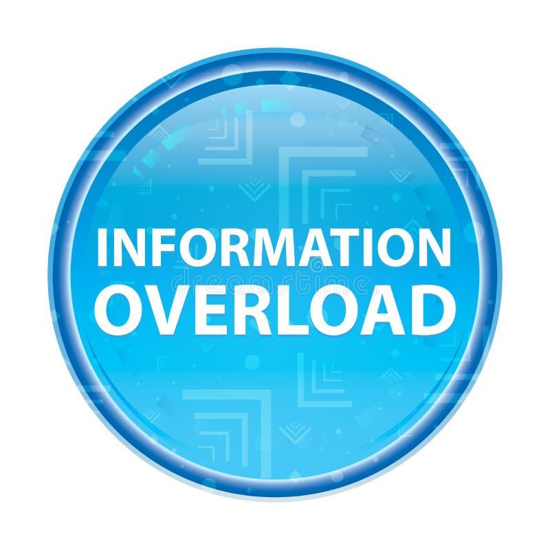 Botão redondo azul floral da sobrecarga de informação ilustração stock