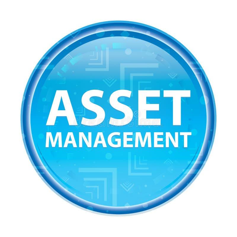 Botão redondo azul floral de Asset Management ilustração royalty free