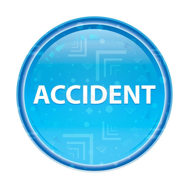 Botão redondo azul floral do acidente ilustração do vetor