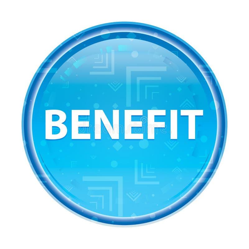 Botão redondo azul floral do benefício ilustração royalty free
