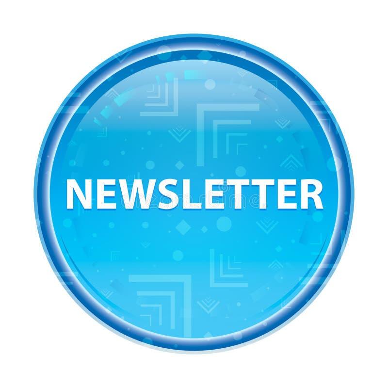 Botão redondo azul floral do boletim de notícias ilustração do vetor