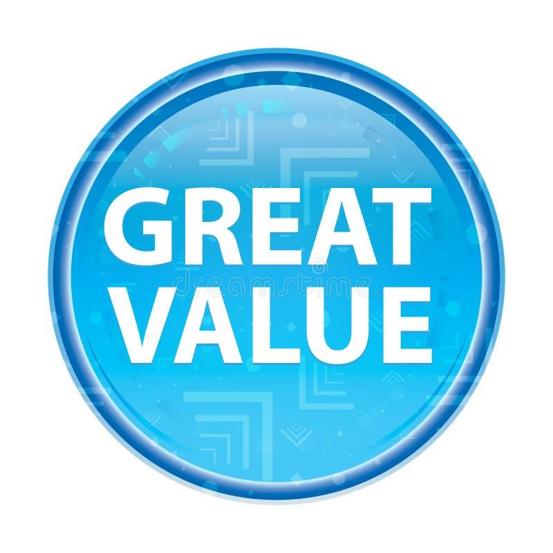 Botão redondo azul floral do grande valor ilustração royalty free