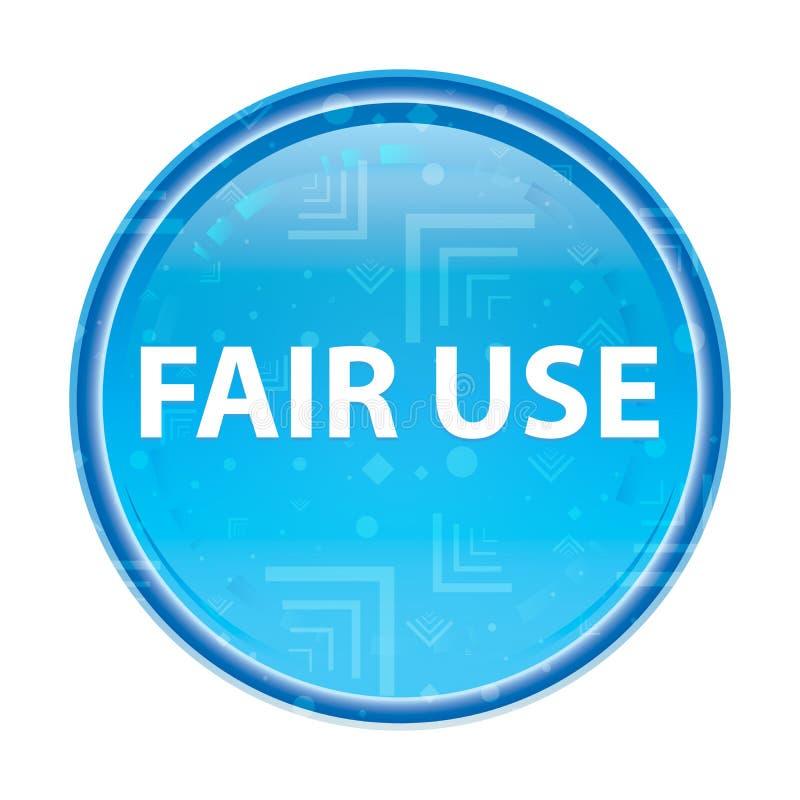 Botão redondo azul floral do uso justo ilustração stock