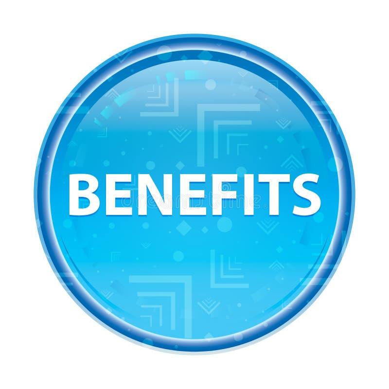 Botão redondo azul floral dos benefícios ilustração stock