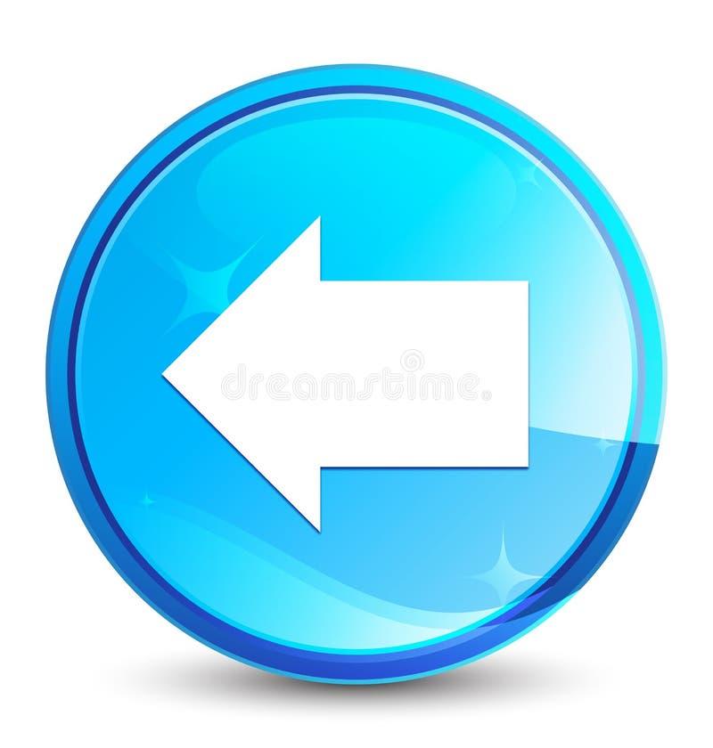 Botão redondo azul natural do respingo traseiro do ícone da seta ilustração do vetor
