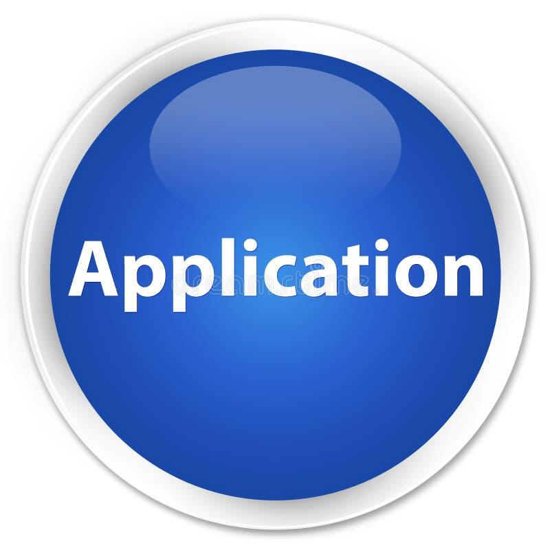 Botão redondo azul superior da aplicação ilustração royalty free